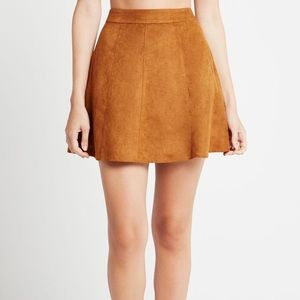 BCBGeneration Faux Suede Skirt